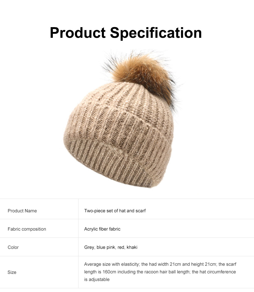 Thickened Two-piece Set Winter Hat Scarf for Lady Autumn Winter Thermal Knitted Twinset for Student Outdoor Use Knitted Thermal Products 6