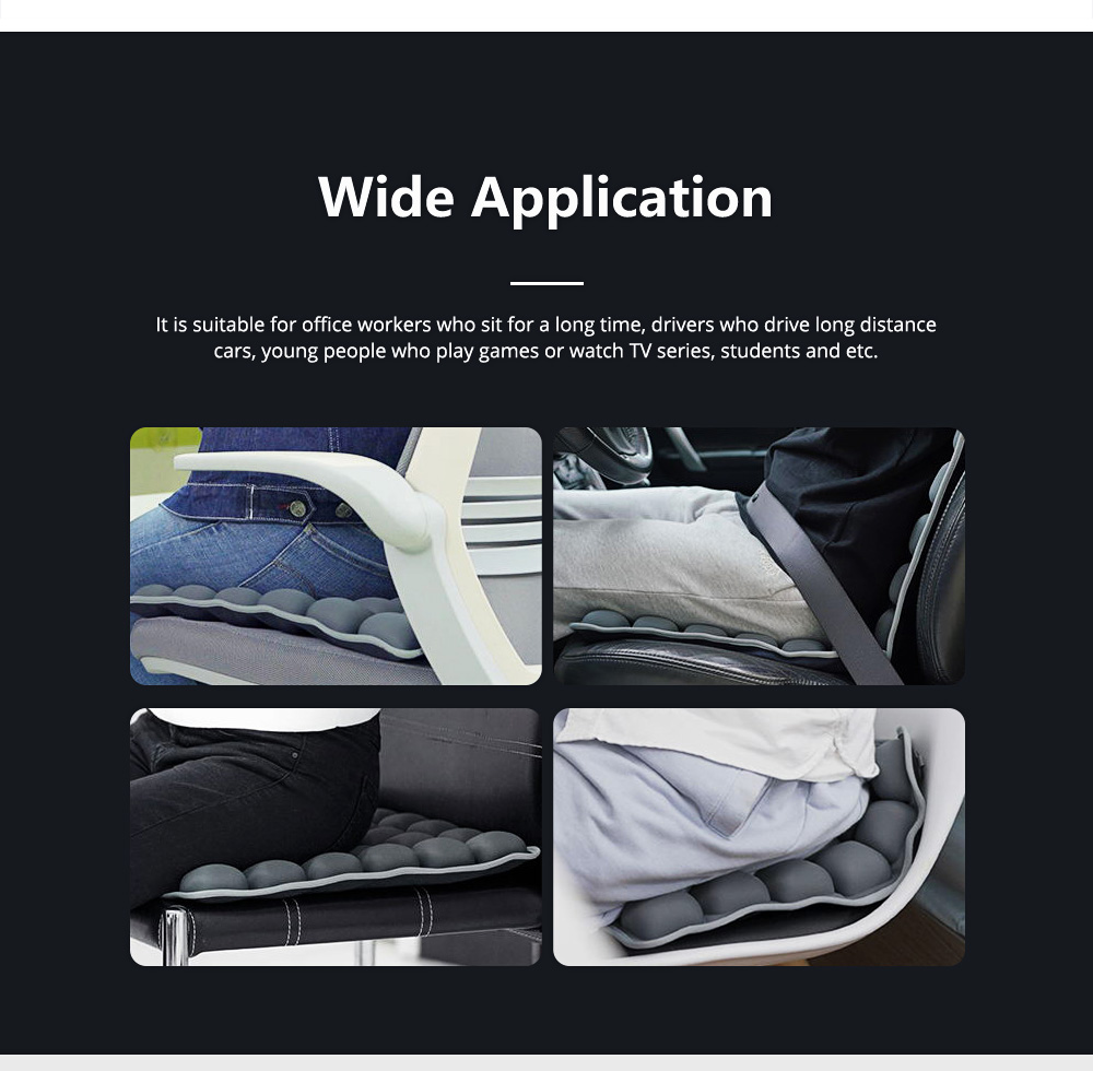 3D Air Bag Seat Cushion for Home Office and Car Use, Back Cushion for Back Pain Relief with Massage Function 9