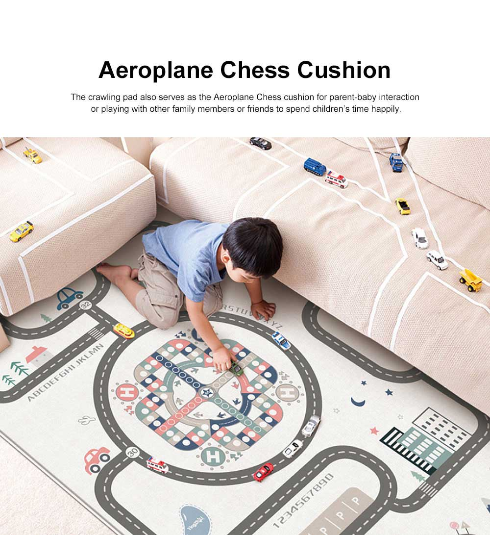 Crawling Pad for Babies Infant Used Mambobaby Baby Cushion Household Living Room Used No  Smell Anti-stumbling Aeroplane Chess Blanket 2