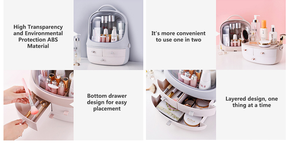 Penguin Drawer Cosmetics Box Space Capsule Cosmetic Box Cosmetic Receiving Storage Box 6