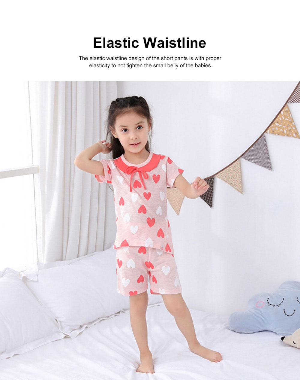 2 Piece Short Sleeve Cotton Suit with Cartoon Pattern for Children Summer New Korean Style Two-piece Kids Leisure Wear For 3-8 years 3