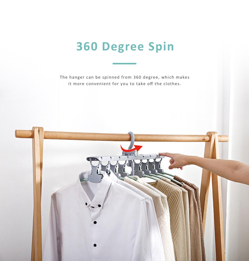 3 Pack Foldable Plastic Clothes Hanger, Multi-functional Flexible Clothes Rack Storage Set Anti-slip Wind-proof 5