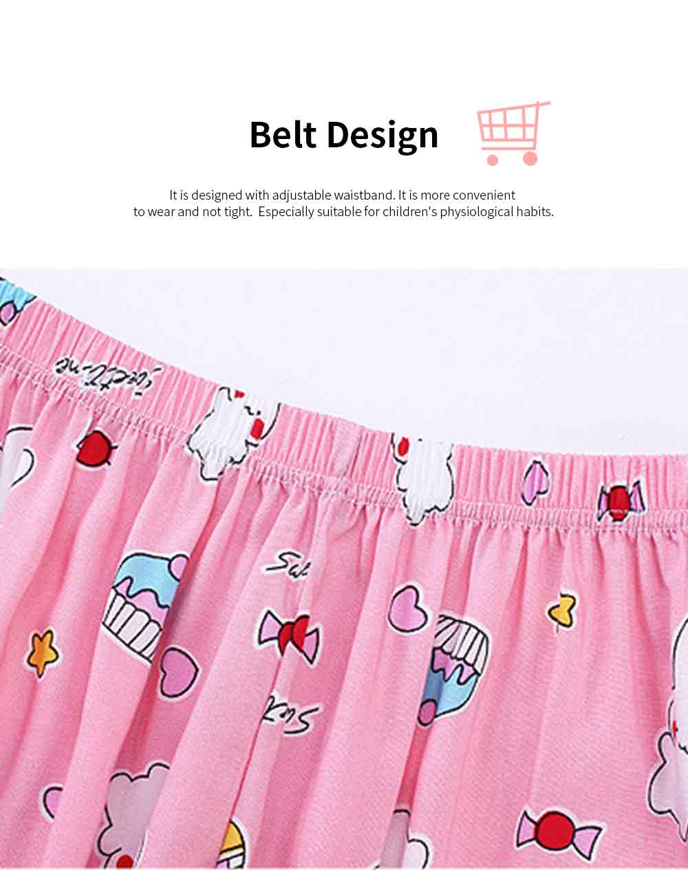 Boy Pants Silk Stylish Design Anti-Mosquito Elastic Cotton for Children Summer Thin Lantern Pants Harem Pants 3