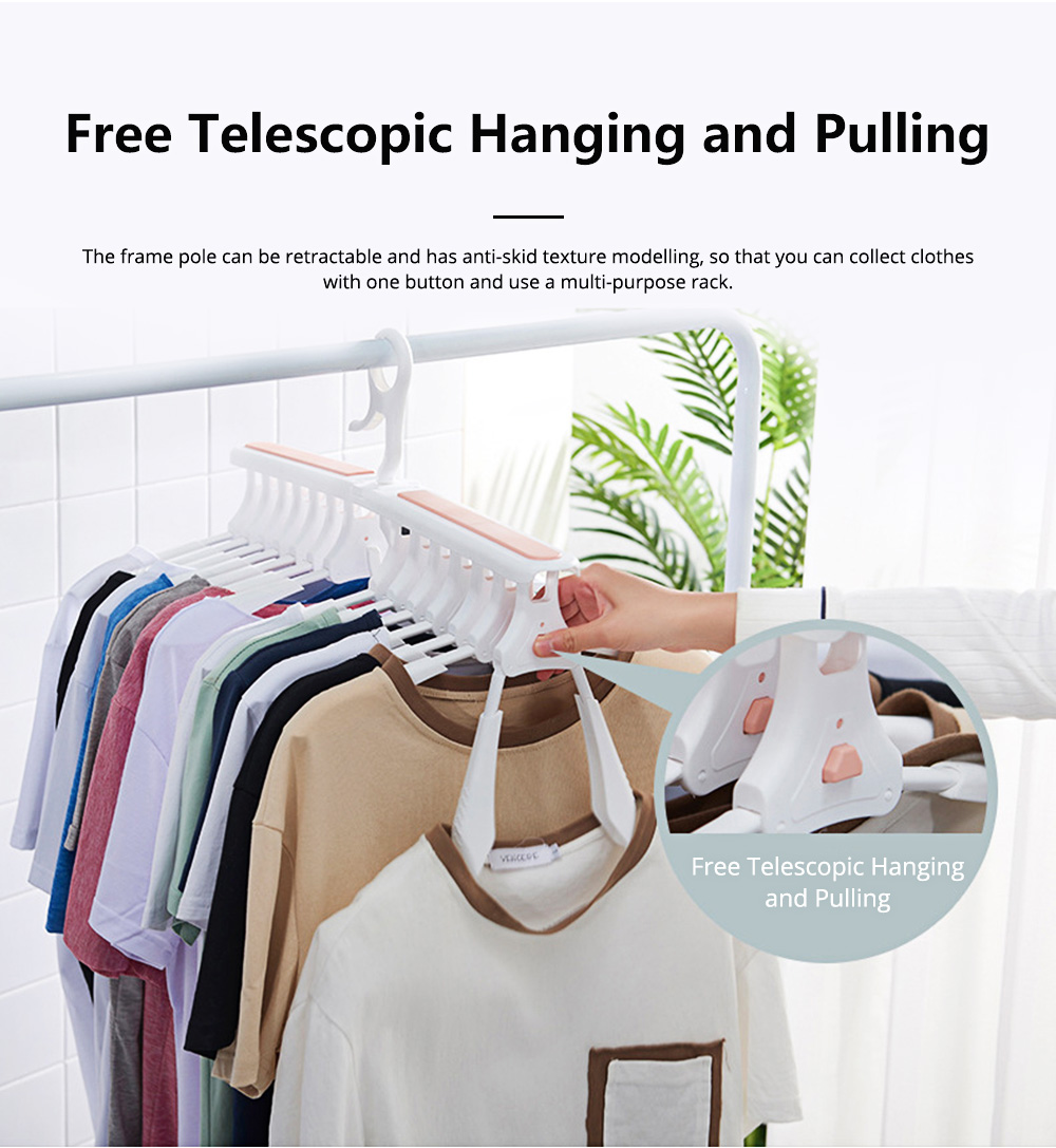 Dual-purpose Folding Hanger 14 Head Extensible Magic Hangers for Children and Adults Internet Explosive Clothes Hanger 5