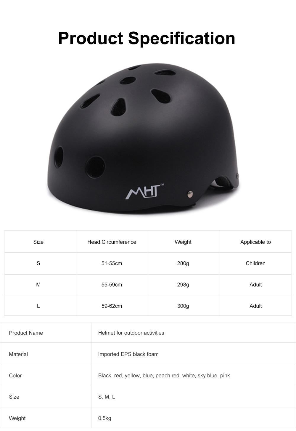 Roller Skating Helmet for Adult Children, Crash Helmet for Sliding Plate Floating Professional  Headpiece for Hip-hop Head Protector 7