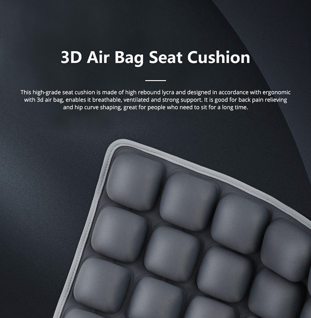 3D Air Bag Seat Cushion for Home Office and Car Use, Back Cushion for Back Pain Relief with Massage Function 0
