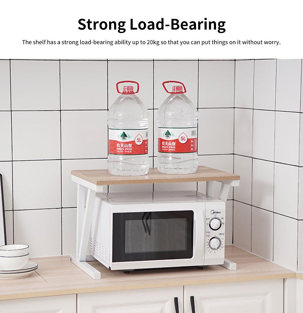 Double-layer Microwave Oven Shelf Multifunctional Rack Stand Cabinet Shelf Storage Organizer 4