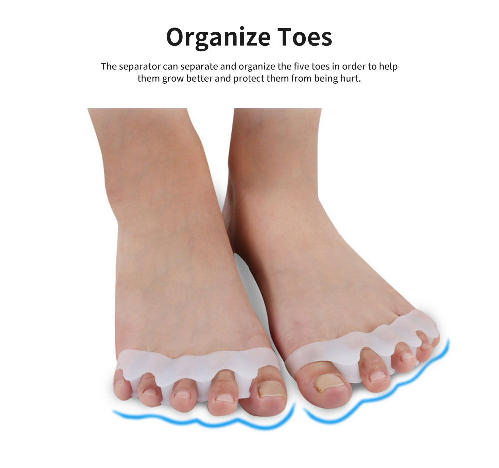 Toe Separators, Bunion Corrector for Bent Toes & Hammer Toes & Overlapping Toes, Stretcher, Anti-Callus 3