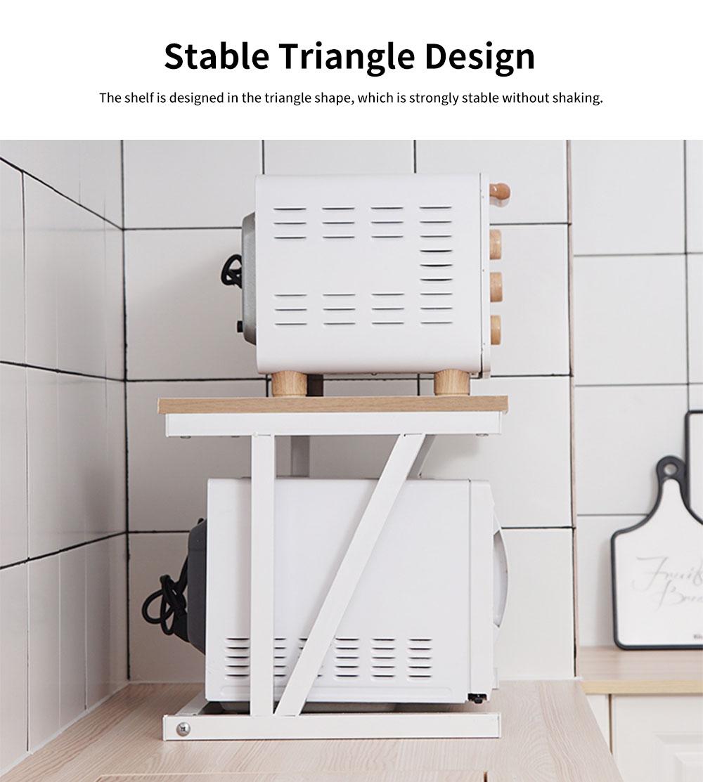 Double-layer Microwave Oven Shelf Multifunctional Rack Stand Cabinet Shelf Storage Organizer 3