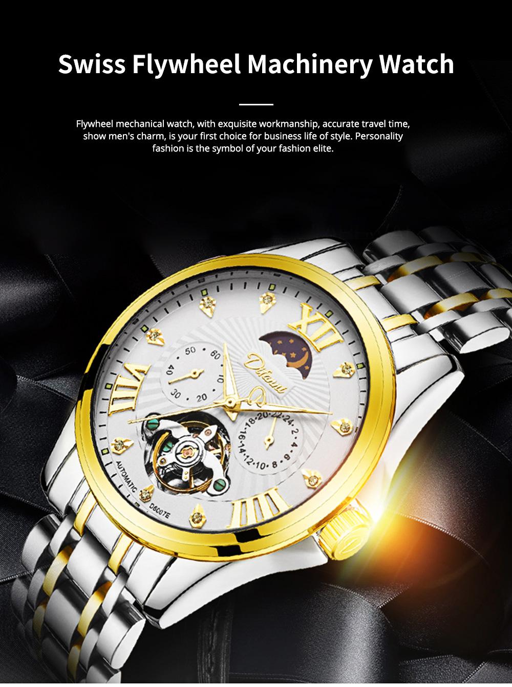 Classic Men's Watch Swiss Flywheel Machinery Watch Fully Automatic Machinery Watch Swiss Geneva Ribbon Machinery Watch 0