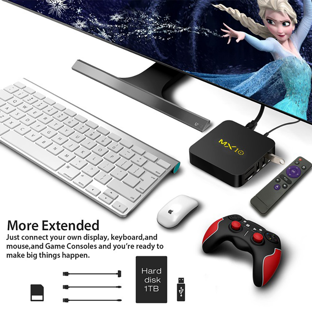 Tinkleo MX10 Kodi 17.1 Android TV Box 4G 32G RK3328 A53 3D 4K Wifi USB 3.0 With Remote 6