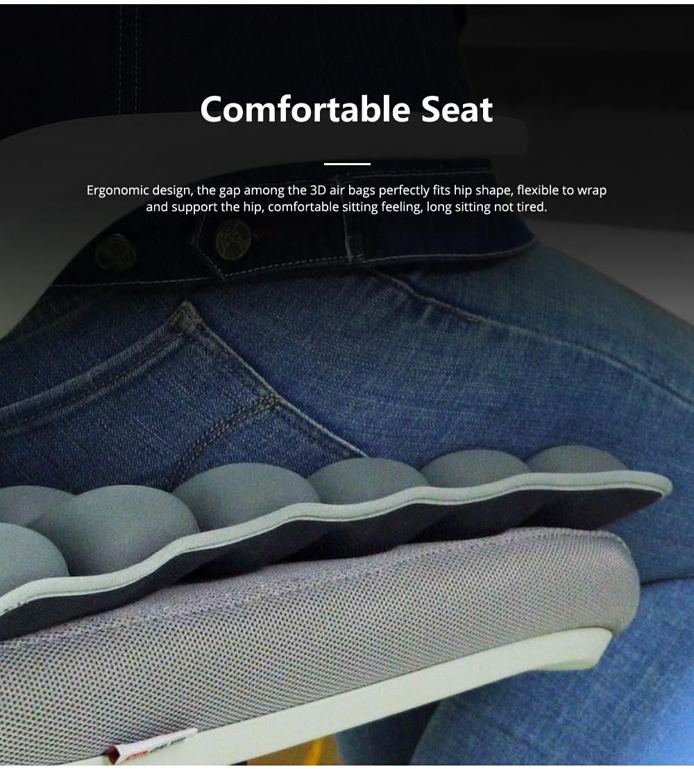 3D Air Bag Seat Cushion for Home Office and Car Use, Back Cushion for Back Pain Relief with Massage Function 5