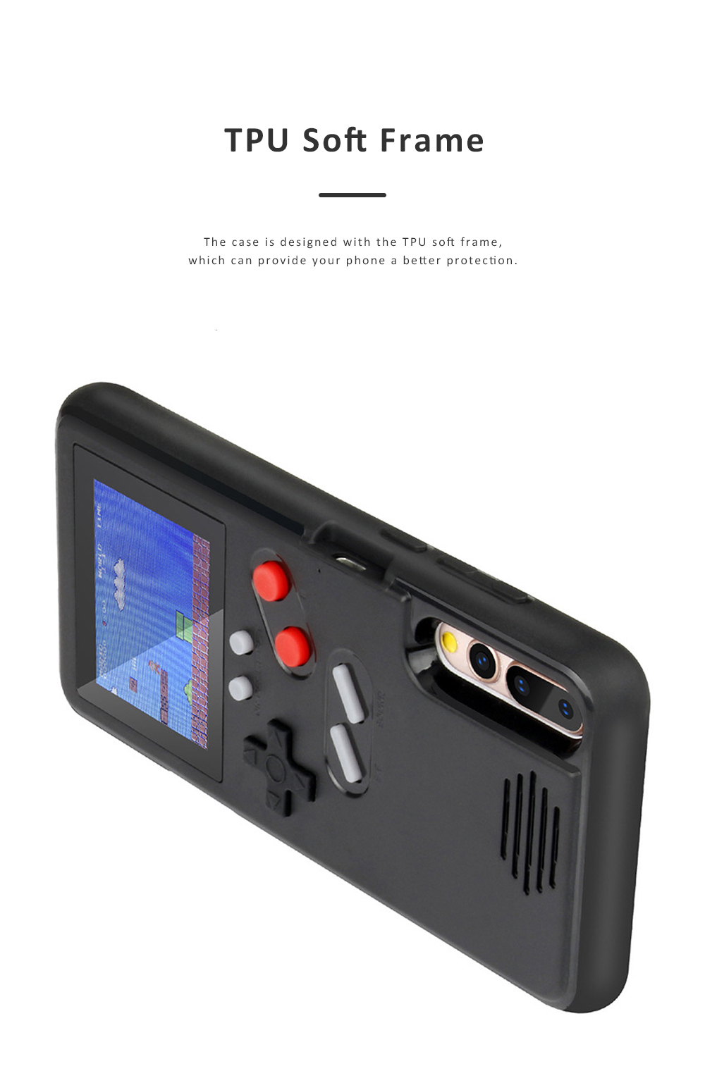 Gamer Phone Case Color Screen Game Consoles Phone Protection Cover for iPhone 6 7 8 X XS OPPO VIVO HUAWEI P30 P20 Pressure Reducer Phone Shell Game Machine 3