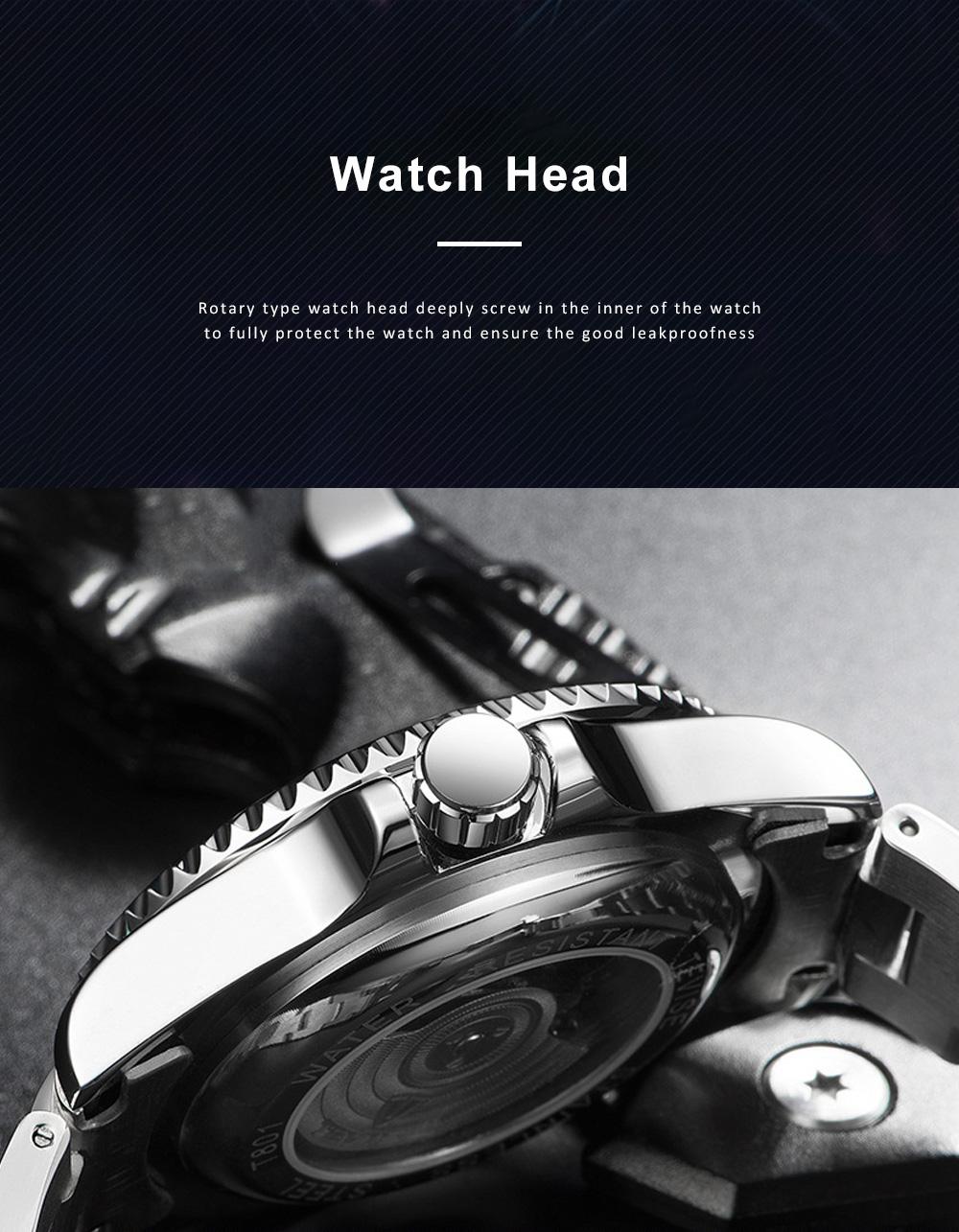 Night Luminous Mechanical Men's Watch Multifunctional Waterproof Wrist Watch for Businessman 3