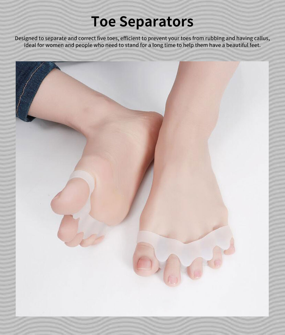Toe Separators, Bunion Corrector for Bent Toes & Hammer Toes & Overlapping Toes, Stretcher, Anti-Callus 0