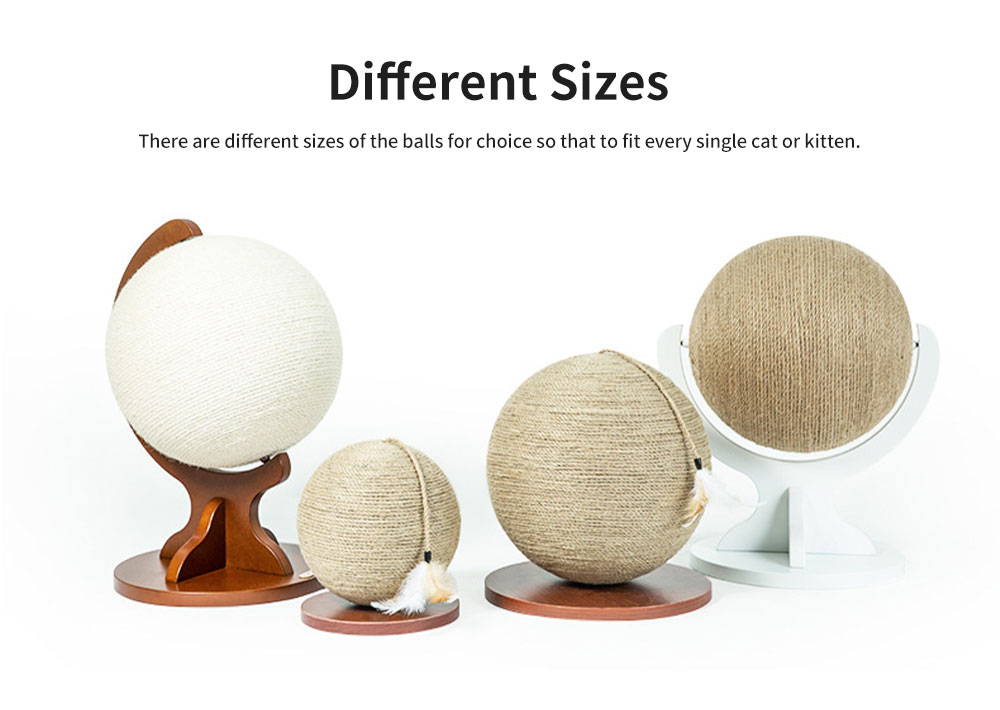 Cats Hemp Rope Ball Interactive Knitted Natural Toy for Kittens, Globe Play Ball for Pets Scratching Posts 5