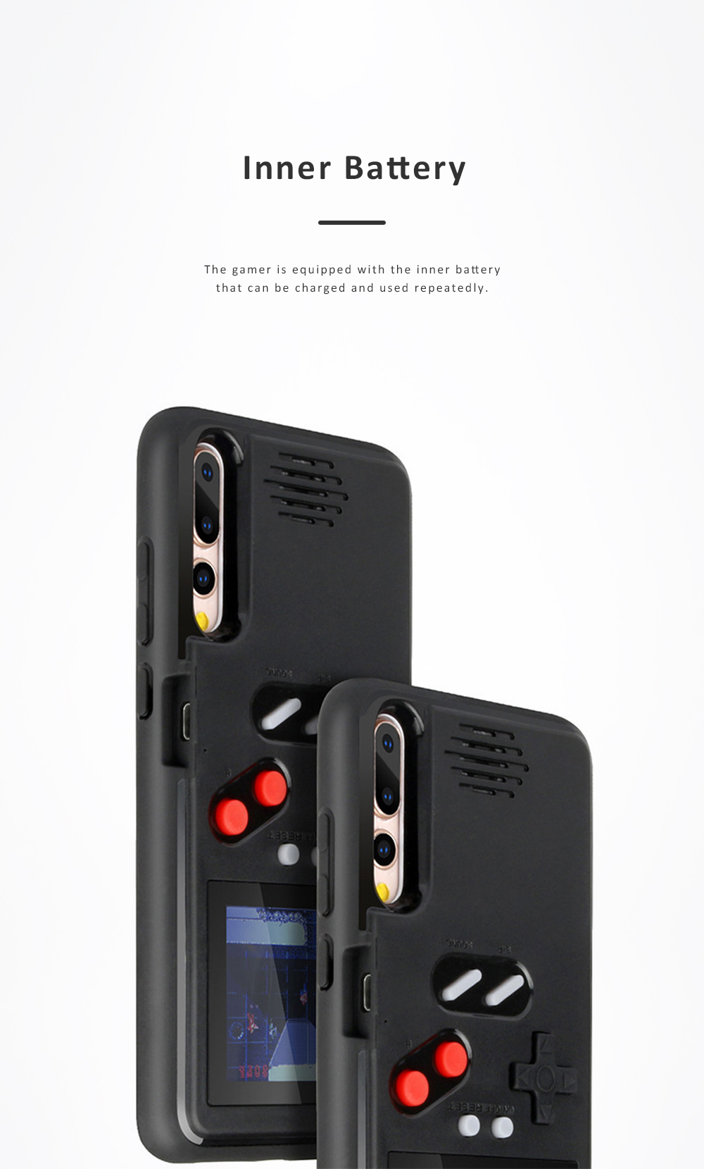 Gamer Phone Case Color Screen Game Consoles Phone Protection Cover for iPhone 6 7 8 X XS OPPO VIVO HUAWEI P30 P20 Pressure Reducer Phone Shell Game Machine 4