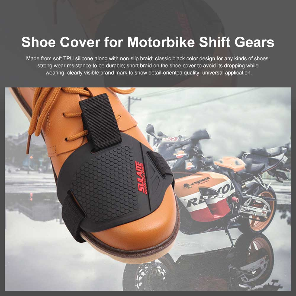 Shoe Cover for Motorbike Shift Gears Protective Shoe Case while Gear-shifting for Motorcycle Shoe 
