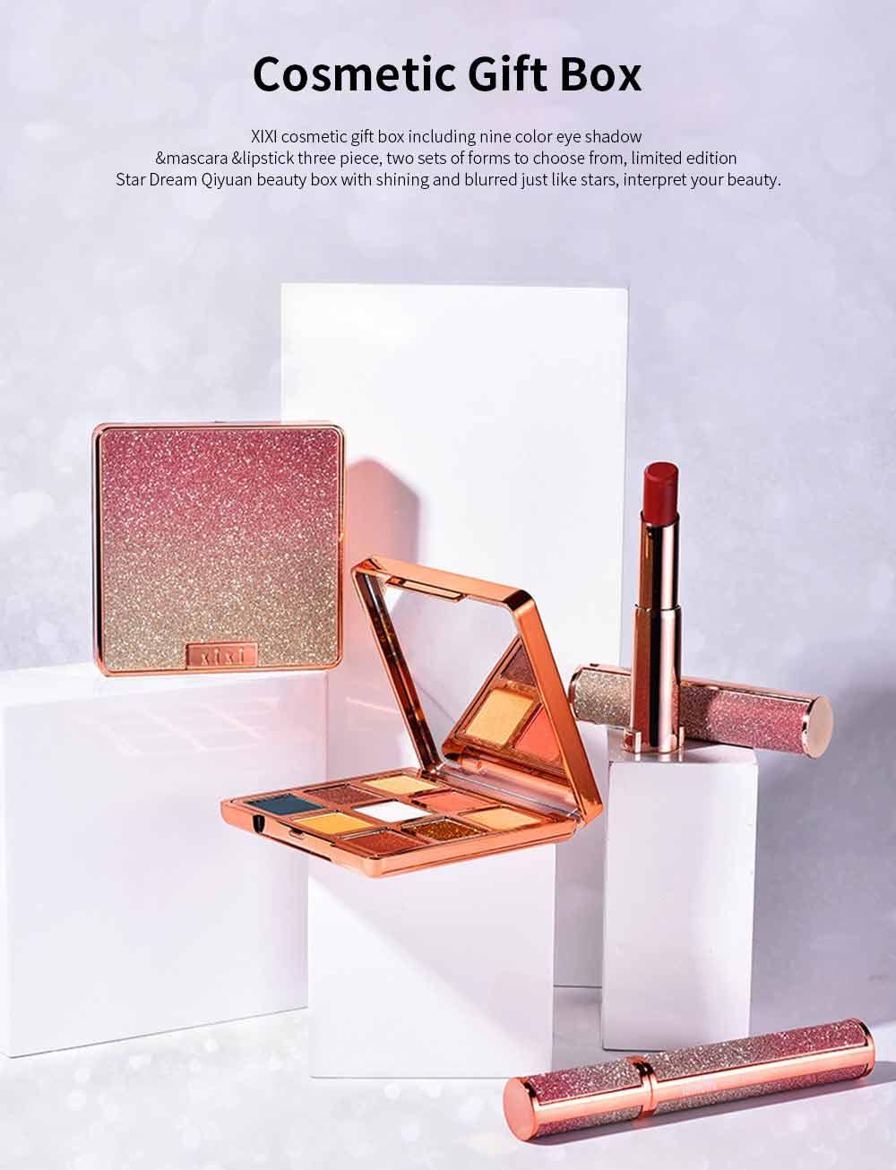 9 Color Eye Shadow & Mascara & Lipstick Set Beauty Makeup Birthday Cosmetic Gift Box Set 0