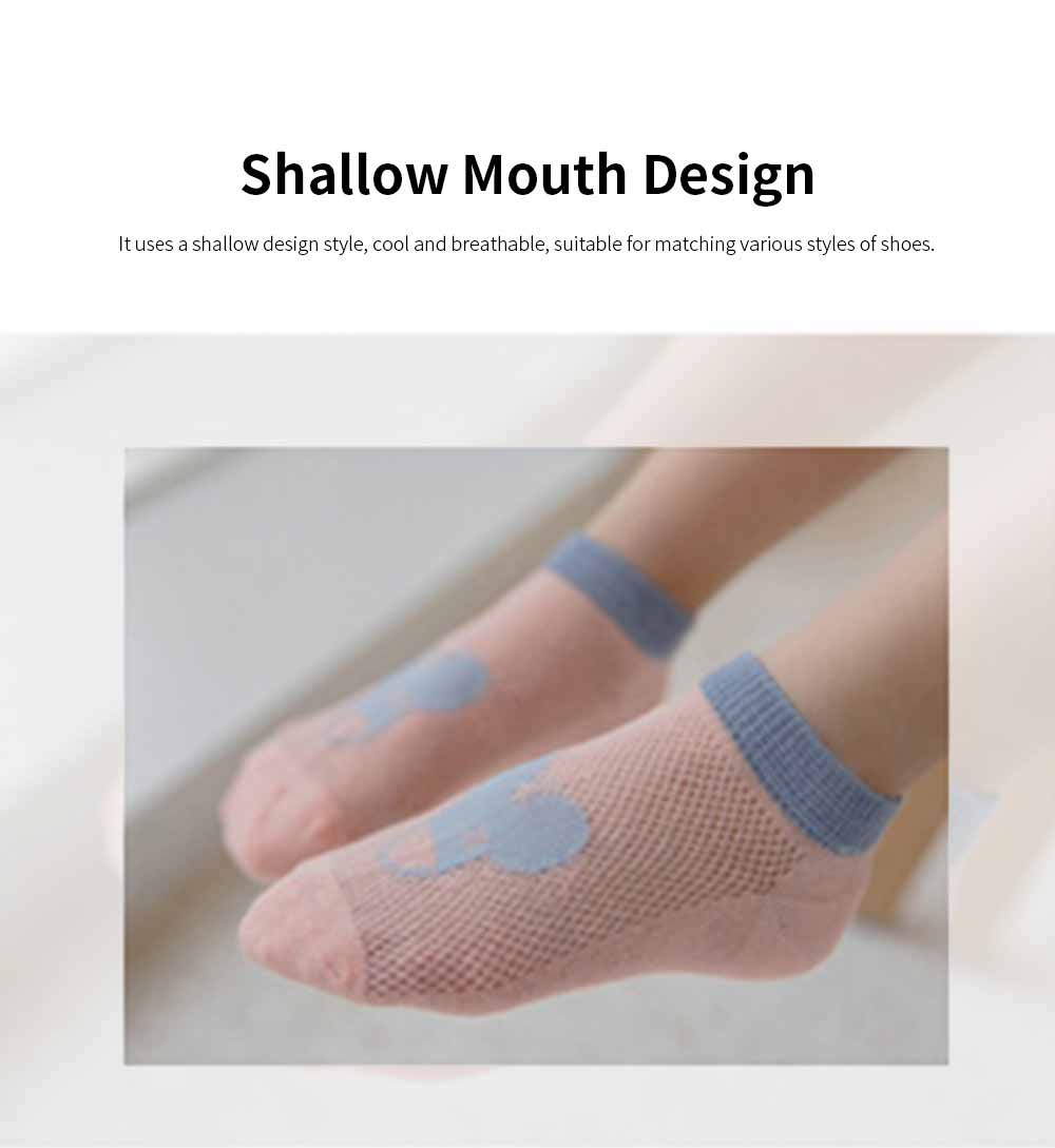 Children 's Thin Mesh Socks All-cotton Breathable Shallow mouth Cute Children's Socks For Summer 2