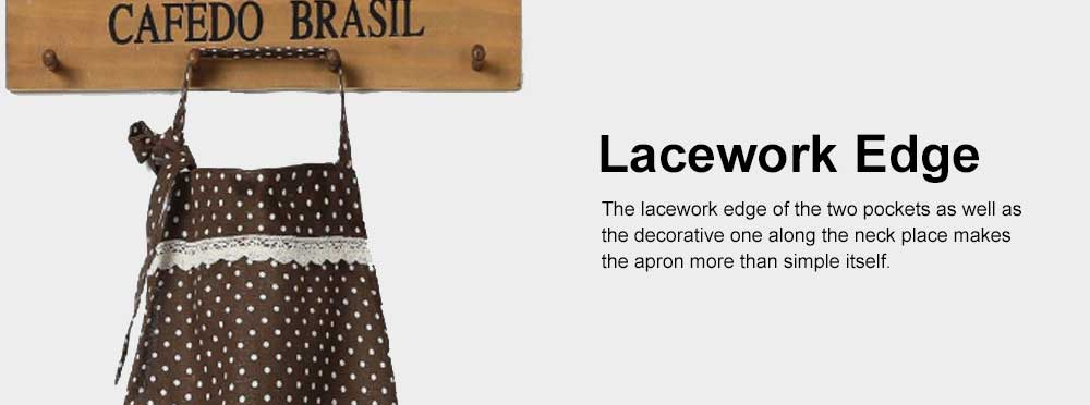 Lacework Edge Five Color Wave Point Apron Household Kitchen Used Pinafore Fashionable Kitchen Accessory 5