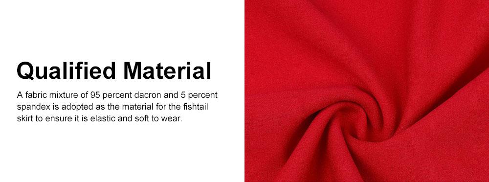 One-piece Women Evening Dress Formal Dress Sexy V Collar Off -shoulder Irregular Fishtail Skirt 4