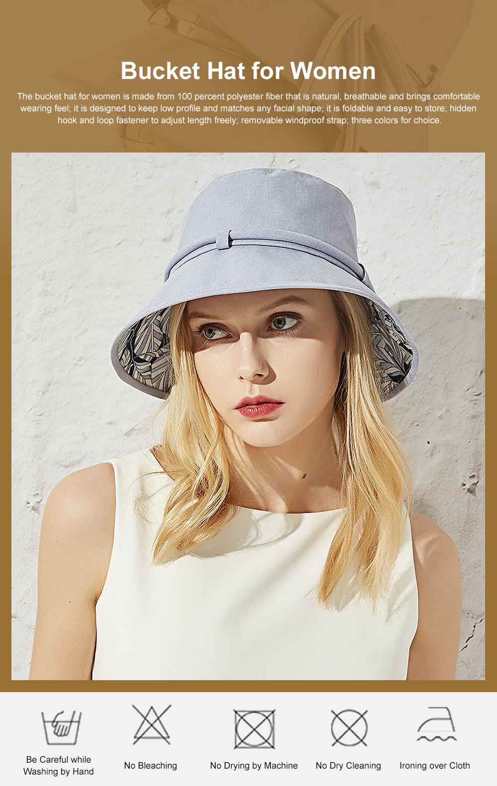 Outdoor Foldable Windproof Sunbonnet for Travelling Casual Sunhat for Lady Summer All-match Sun Helmet for Women Sunblock Bucket Hat 0