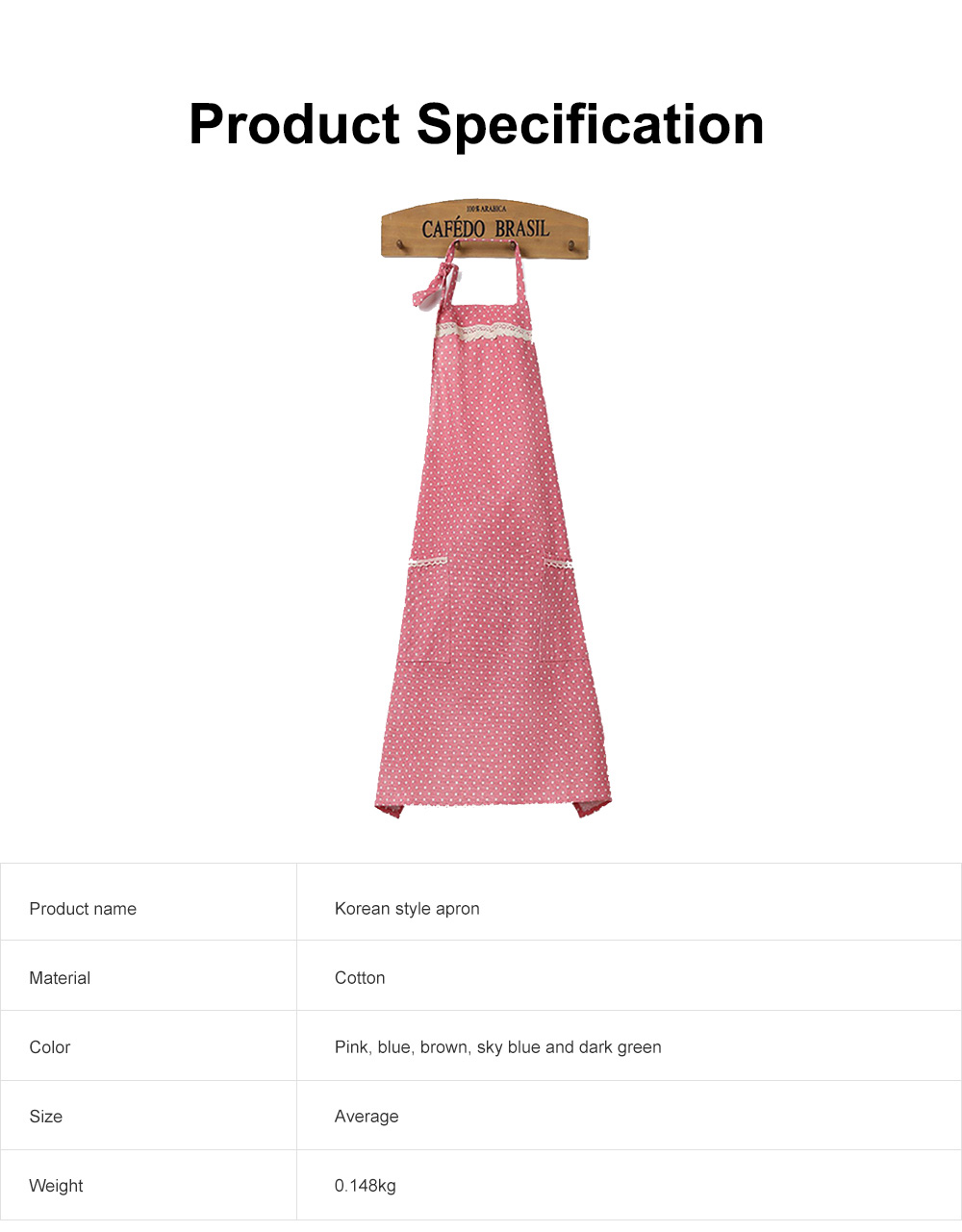 Lacework Edge Five Color Wave Point Apron Household Kitchen Used Pinafore Fashionable Kitchen Accessory 6