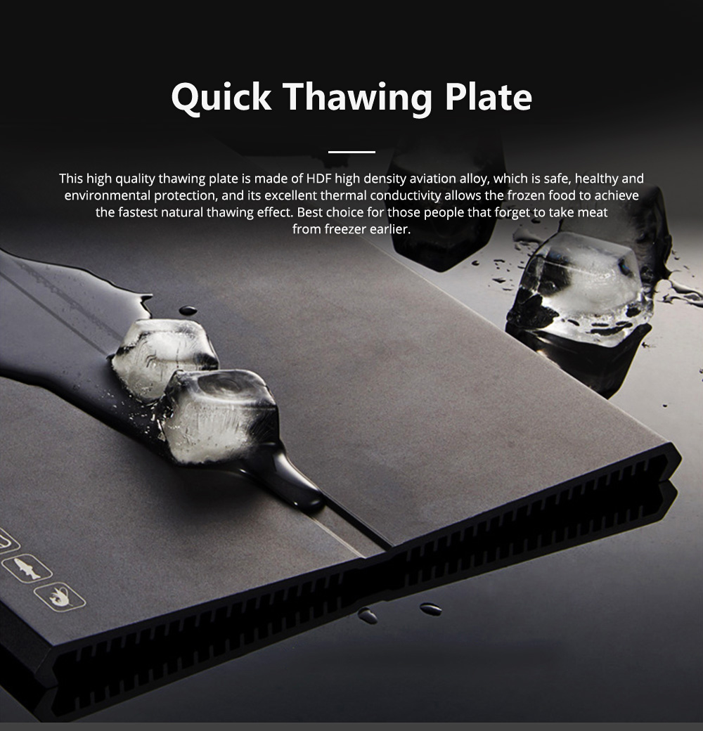 Quick Defrosting Thawing Plate for Frozen Meat Zero Degree Seafood Eco-friendly Safe Thawing Tray 0