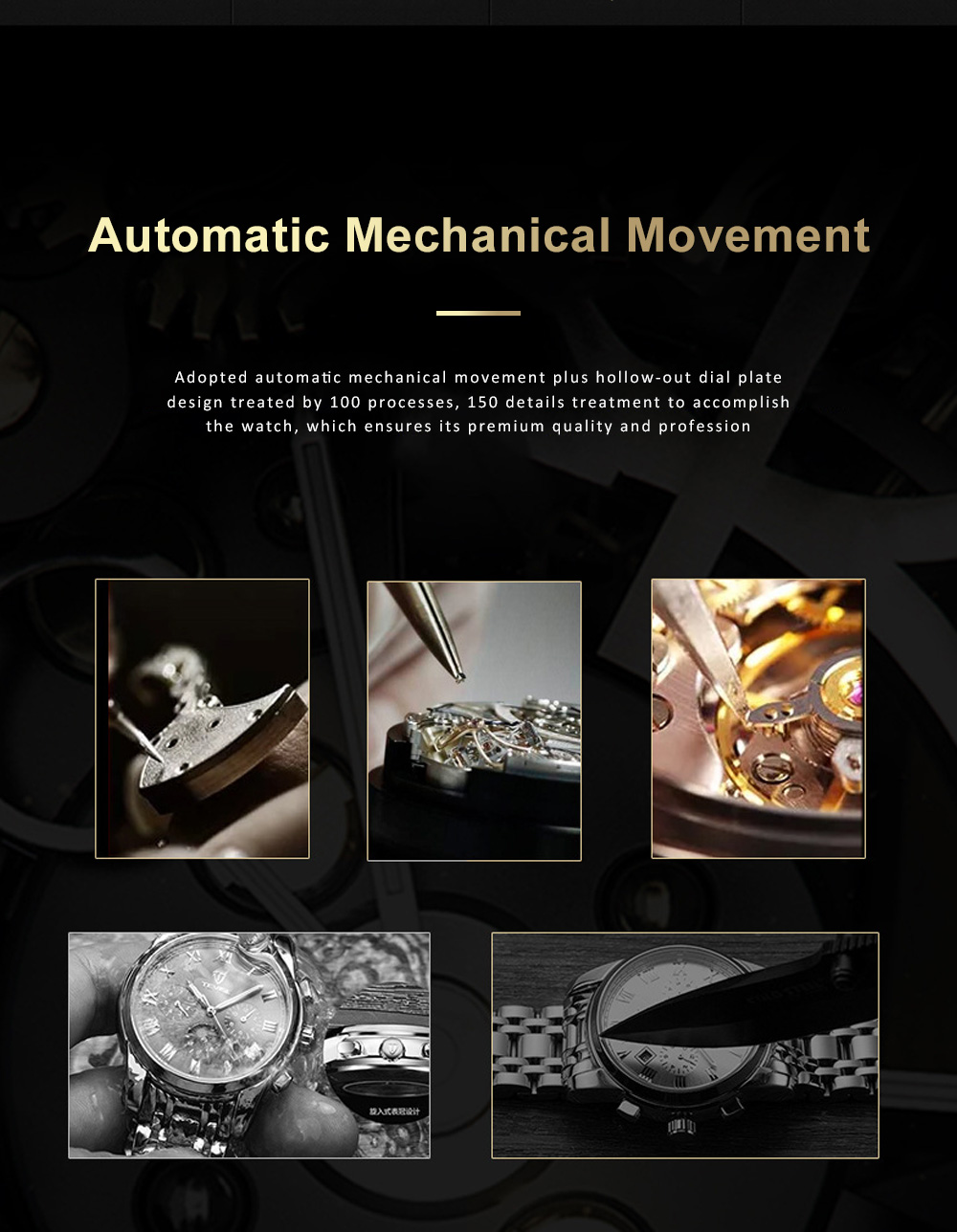 Automatic Mechanical Men's Watch for Business, Daily, Dating, Luxurious Fashion Businessman Watch with Waterproof 1