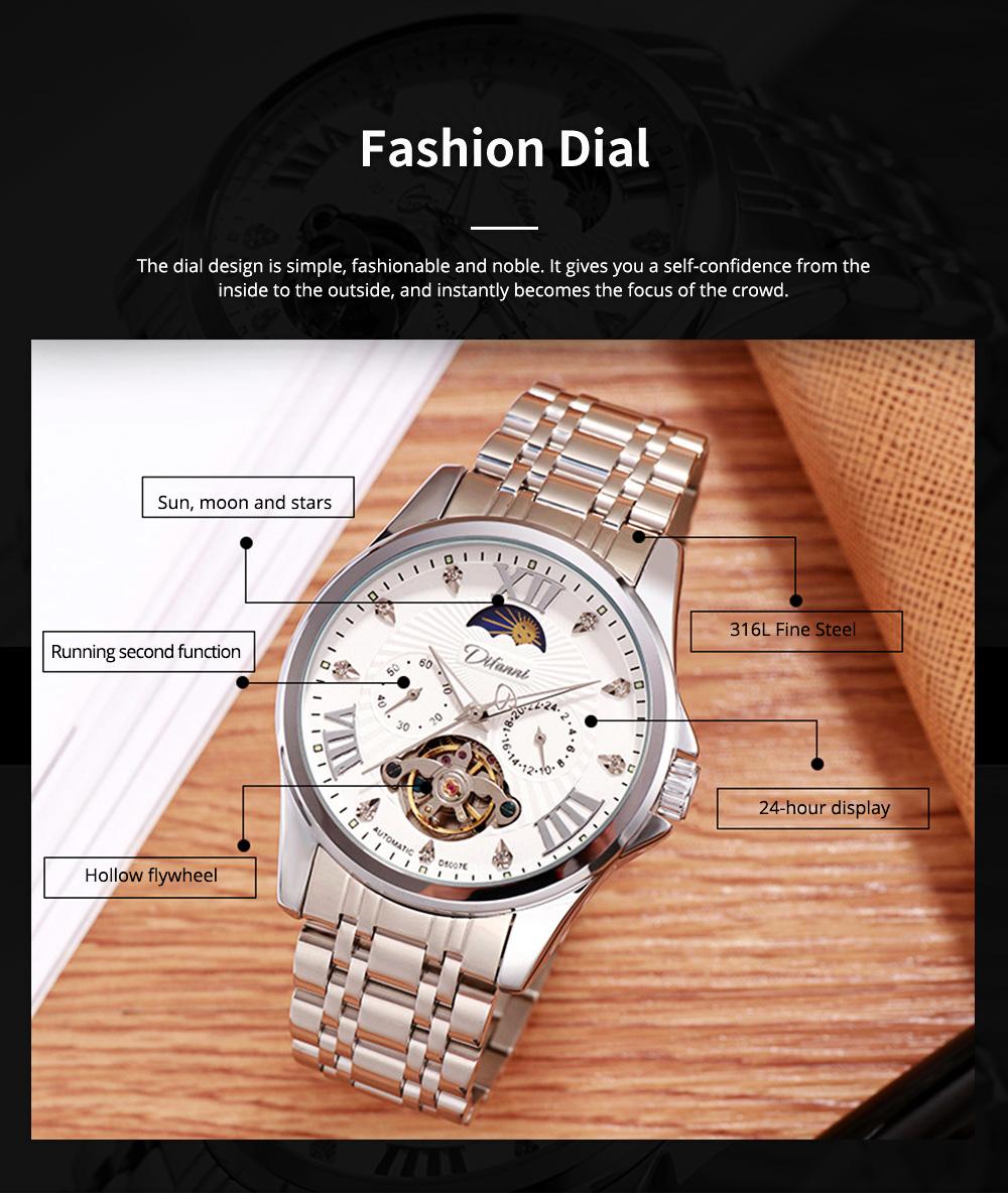 Classic Men's Watch Swiss Flywheel Machinery Watch Fully Automatic Machinery Watch Swiss Geneva Ribbon Machinery Watch 4