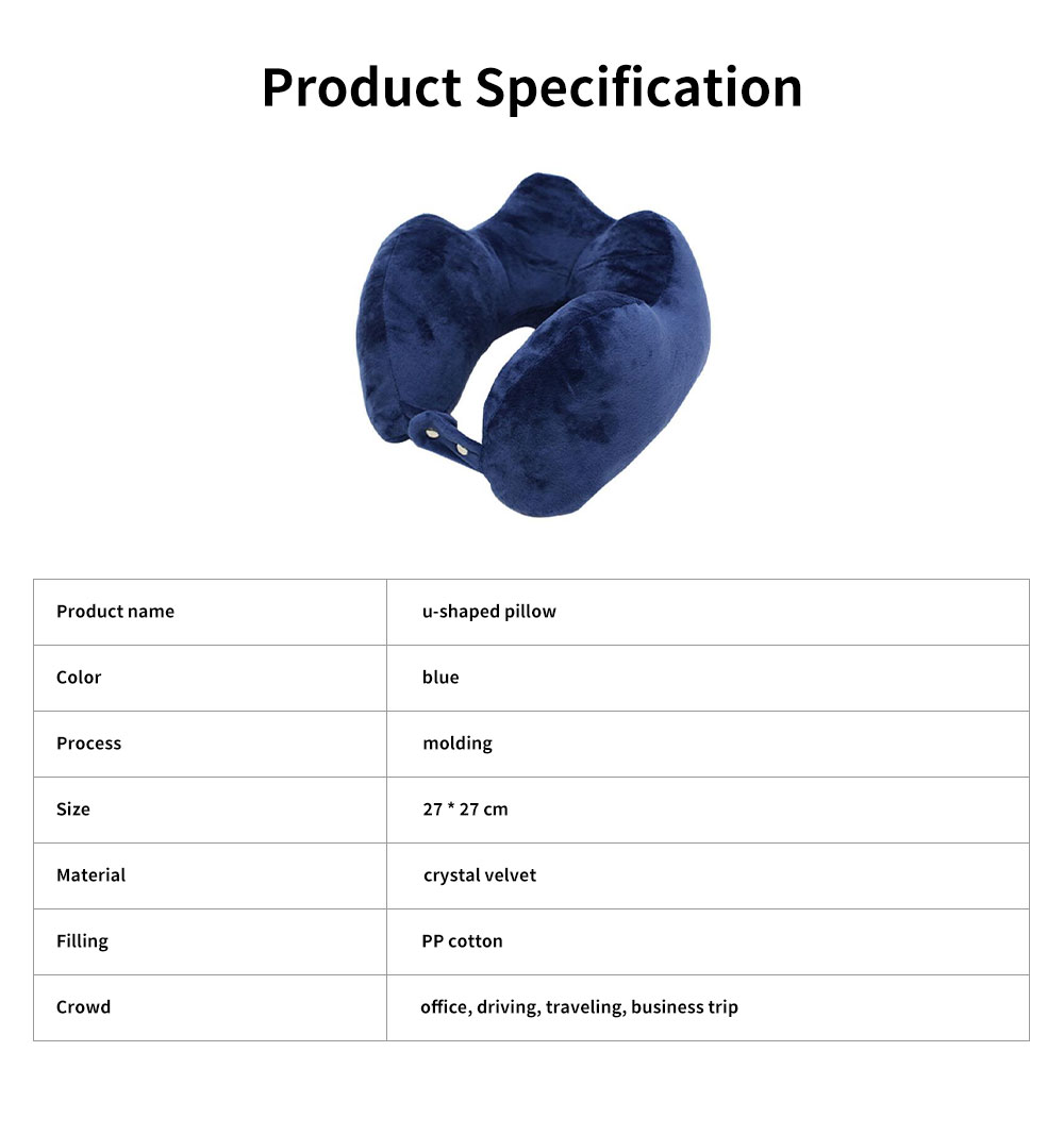 Soft Breathable U-shape Pillow Cotton PP Material Soft Elastics Cervical Pillow for Office Staff Driver U Shape Breathable Bolster 7