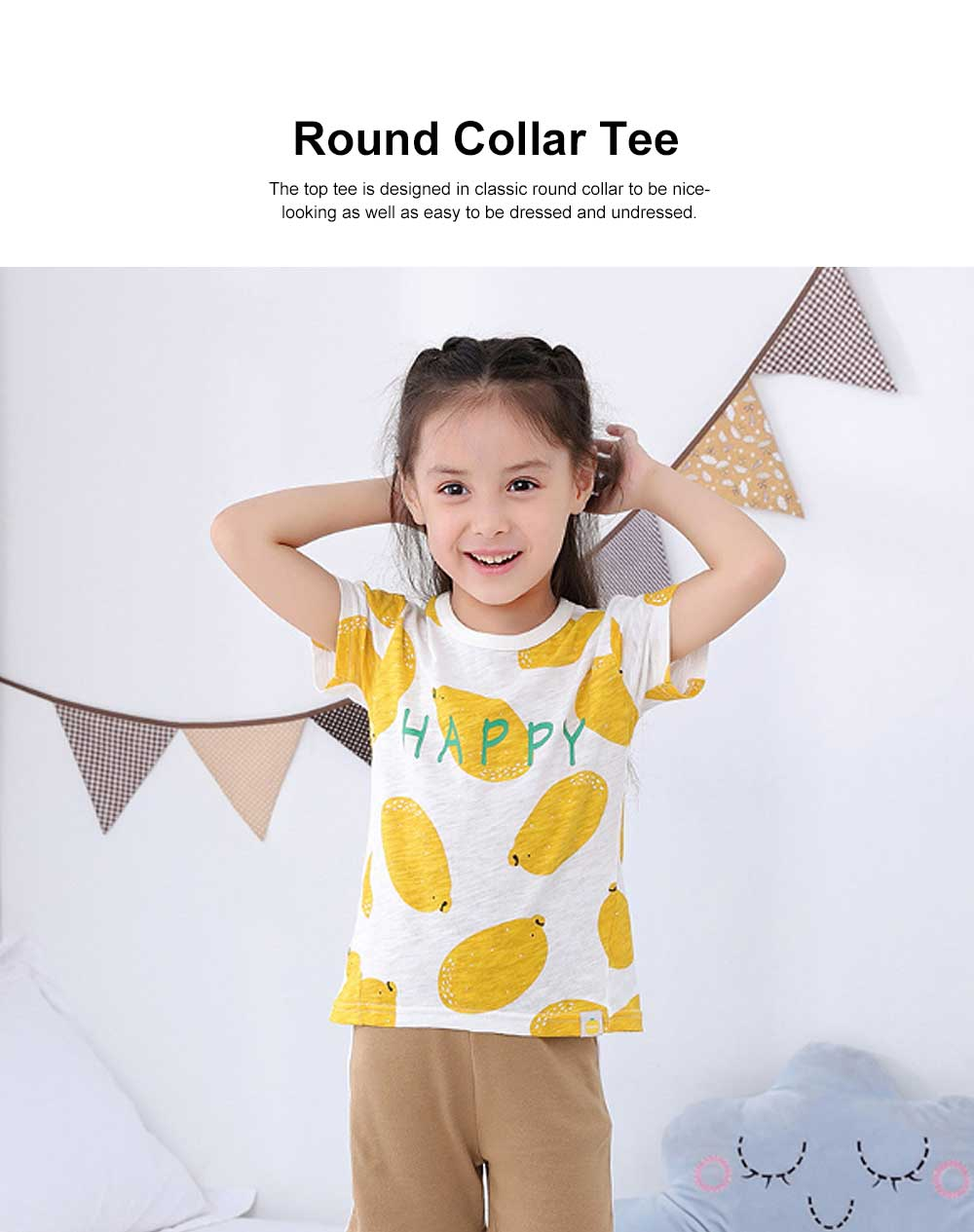 Pure Cotton Cartoon Short Sleeve T-shirt for Unisex Babies Wear in Summer Korean Style Waling Dress for Children Short Pants Children Wear 2