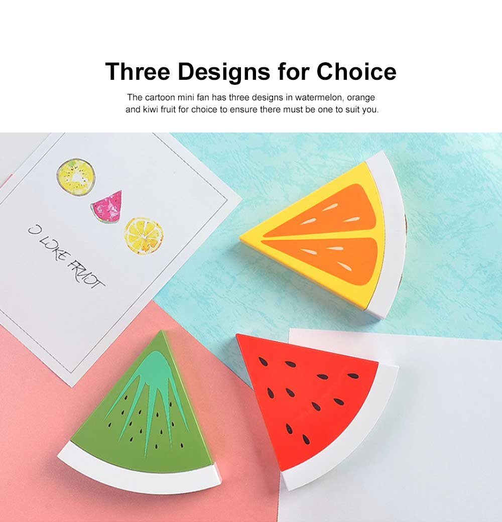 Tinkleo Watermelon USB Chargeable Mini Fan for Children's Gift, Creative Cartoon Portable Air Fan for Baby Present Mini USB Fan 1
