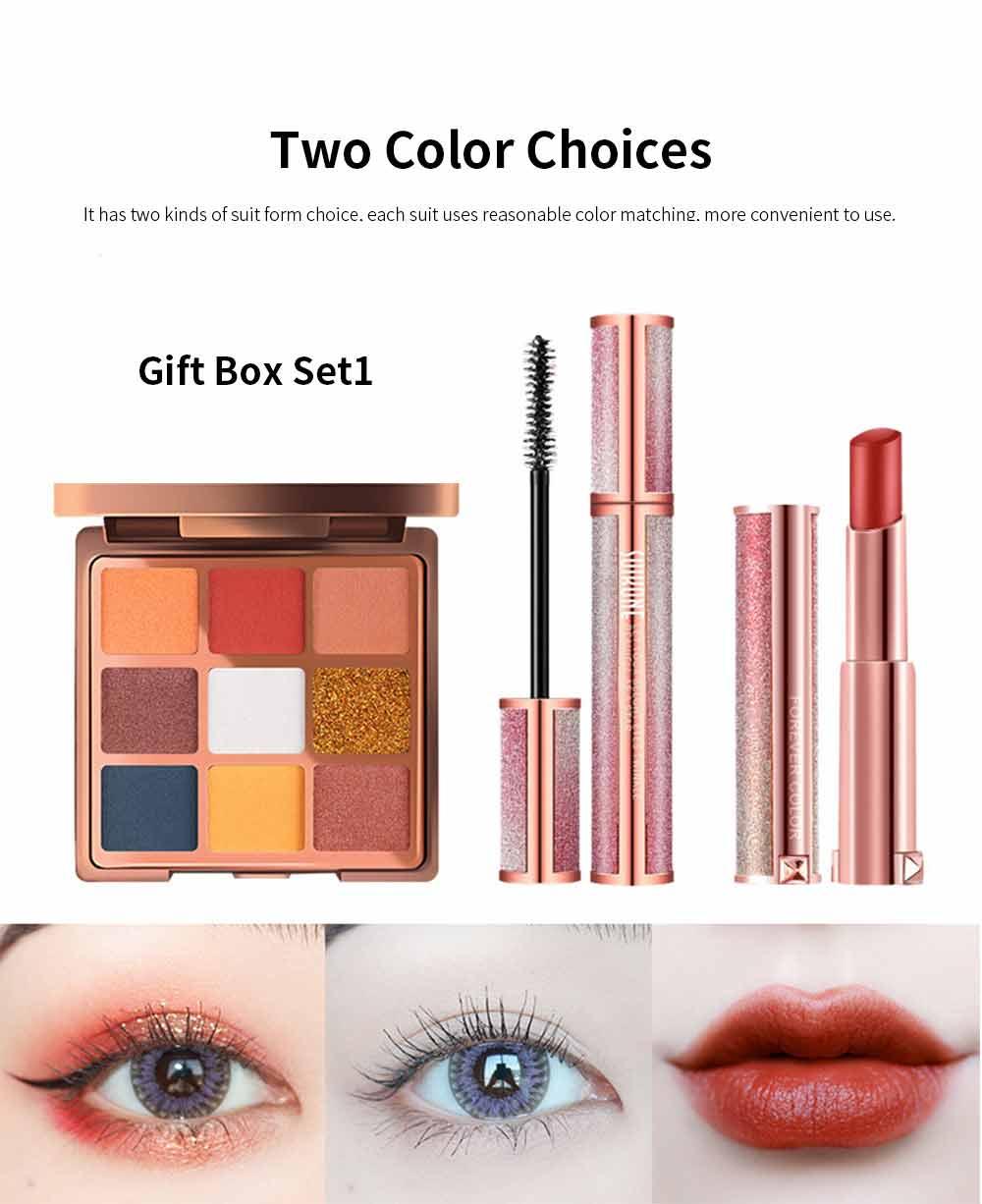9 Color Eye Shadow & Mascara & Lipstick Set Beauty Makeup Birthday Cosmetic Gift Box Set 5