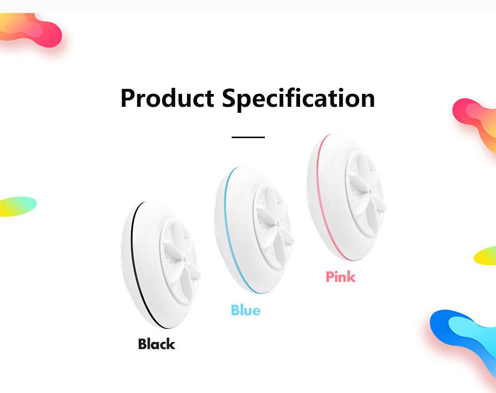 Travel Ultrasonic Turbine Washing Machine Cleaner High Efficiency Portable Washing Device 7