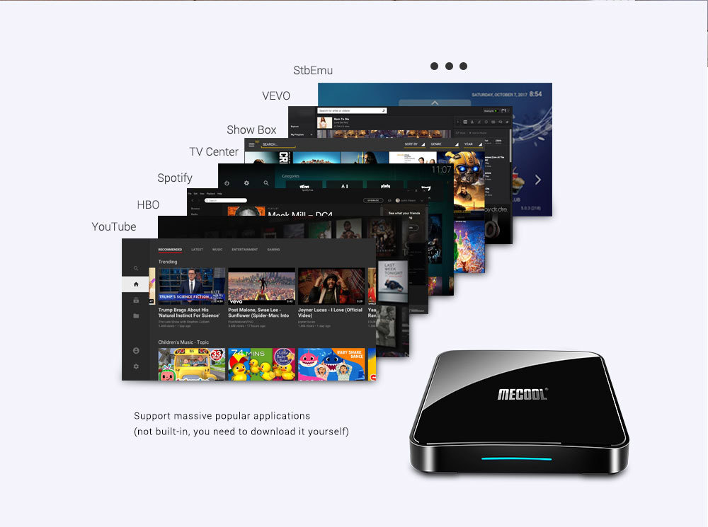 MECOOL KM3 905X2 Android 9.0 Smart TV Box 4G 64G Amlogic Quad Core A53 3D 4K USB3.0 Support Youtube Google 14