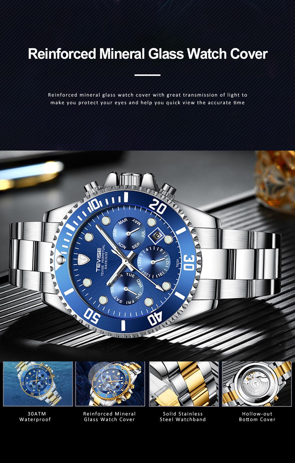 Night Luminous Mechanical Men's Watch Multifunctional Waterproof Wrist Watch for Businessman 5