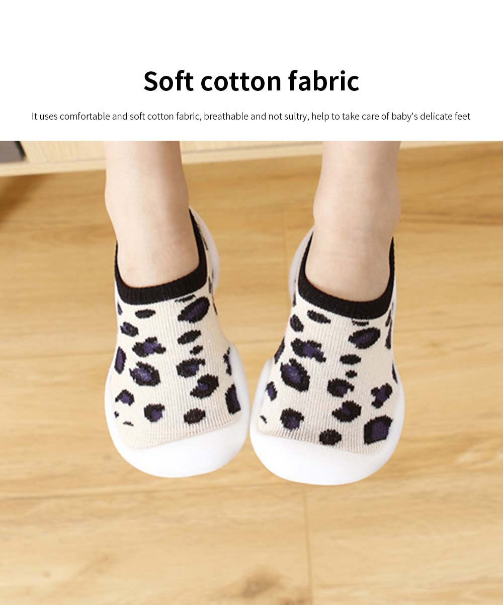 Children's Indoor Shoes Leopard Print Floor Socks 2020 Spring Summer Toddler Walking Sock Shoe 1