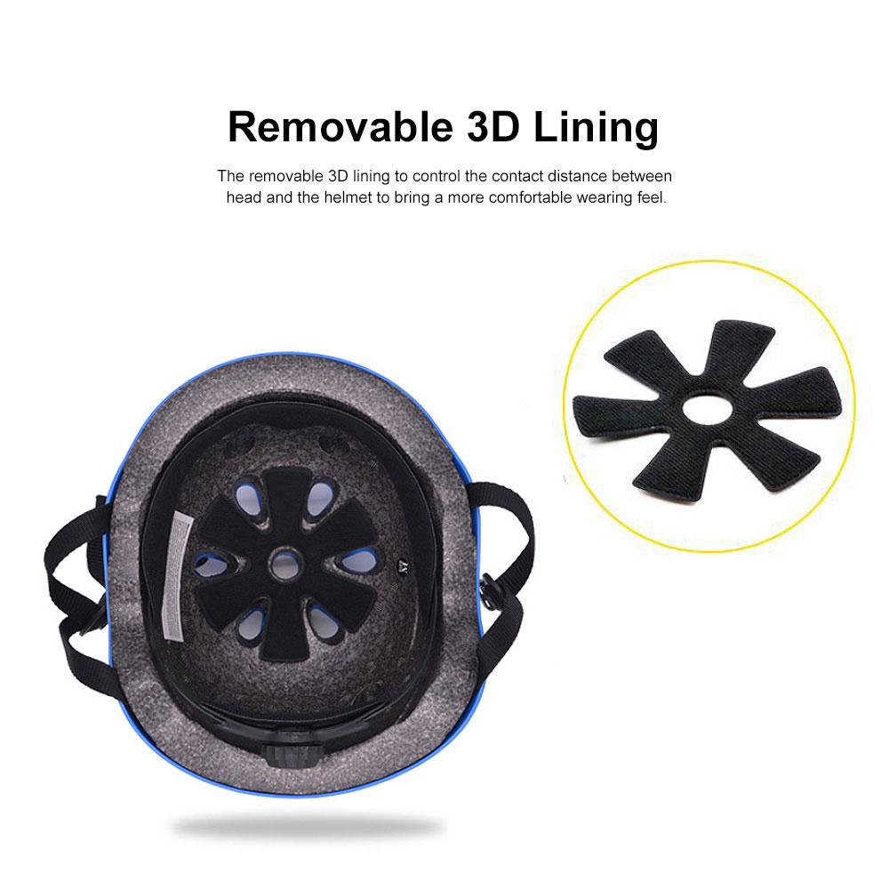 Roller Skating Helmet for Adult Children, Crash Helmet for Sliding Plate Floating Professional  Headpiece for Hip-hop Head Protector 3