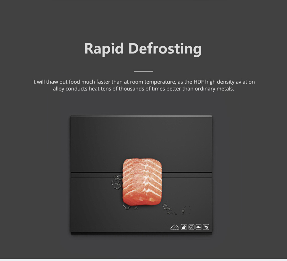 Quick Defrosting Thawing Plate for Frozen Meat Zero Degree Seafood Eco-friendly Safe Thawing Tray 2
