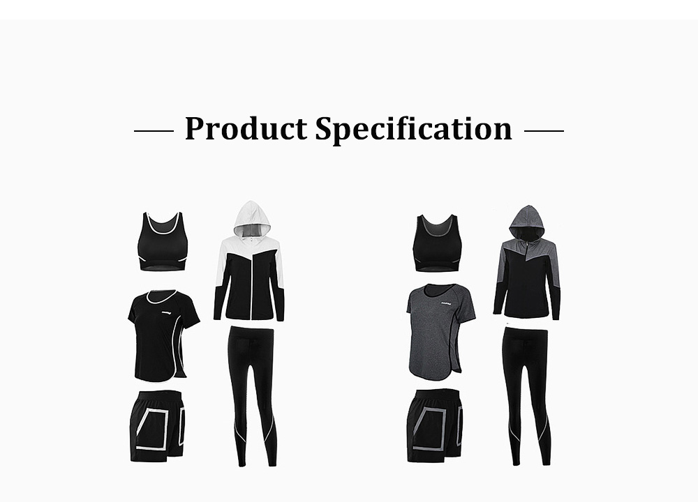 Large Size Fitness Clothes Loose Professional Yoga Suit Five-piece Suit for Gymnasium Sports Running in Autumn and Winter 8