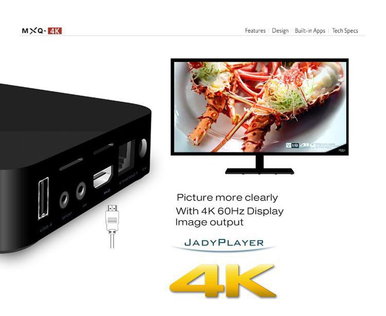 MXQ-4K H3 Android 7.1 TV Box 2GB 16GB Quad Core 4K Wifi Bluetooth H.265 Smart Set Top MXQ Box Network Player Kodi Google  6
