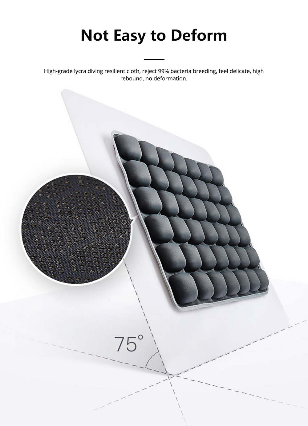 3D Air Bag Seat Cushion for Home Office and Car Use, Back Cushion for Back Pain Relief with Massage Function 7