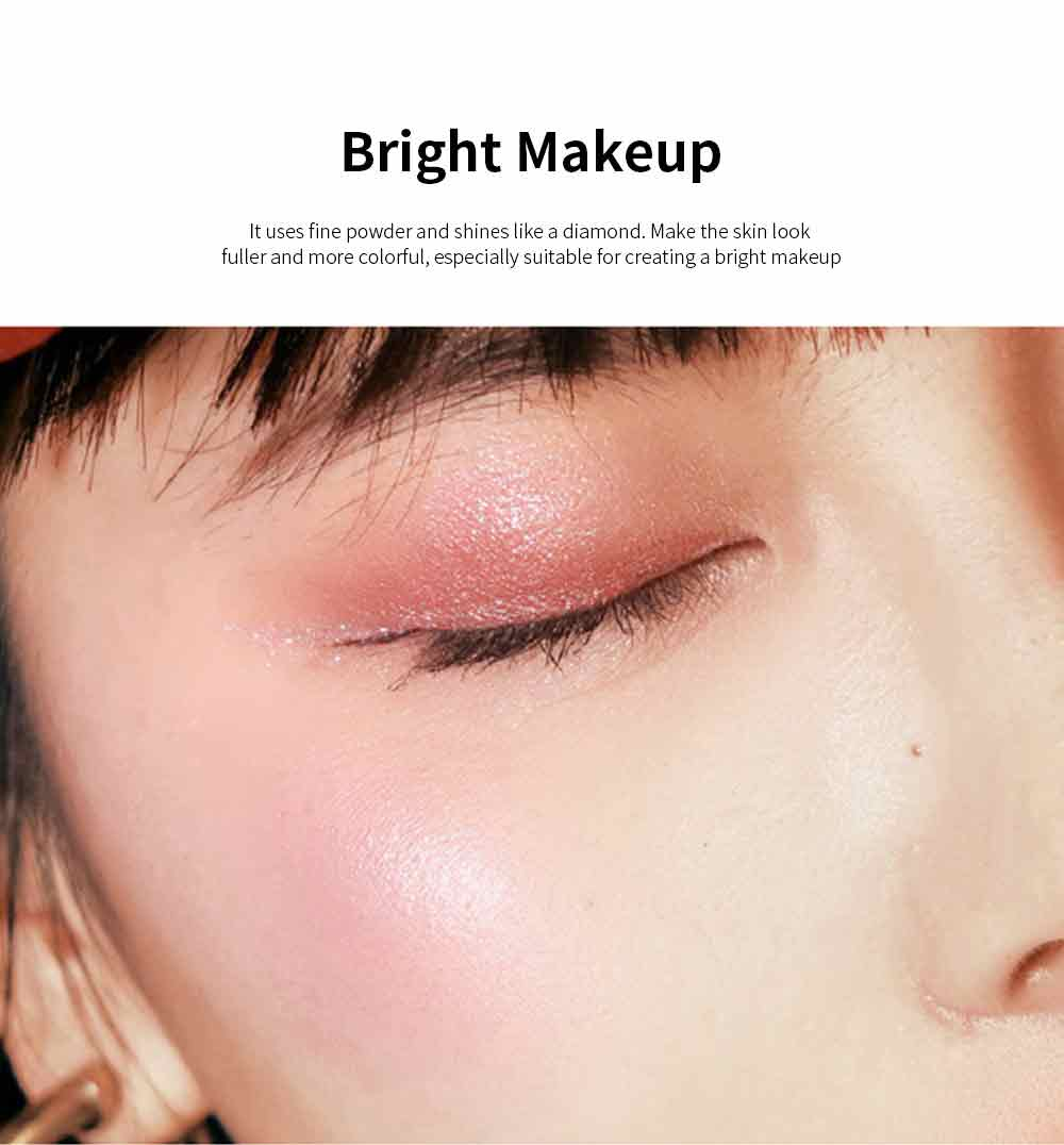 Superior Highlighting Powder, Popular Bright Makeup Powder Stereoscopic Facial Long-Lasting Powder Disc With Mirror 3