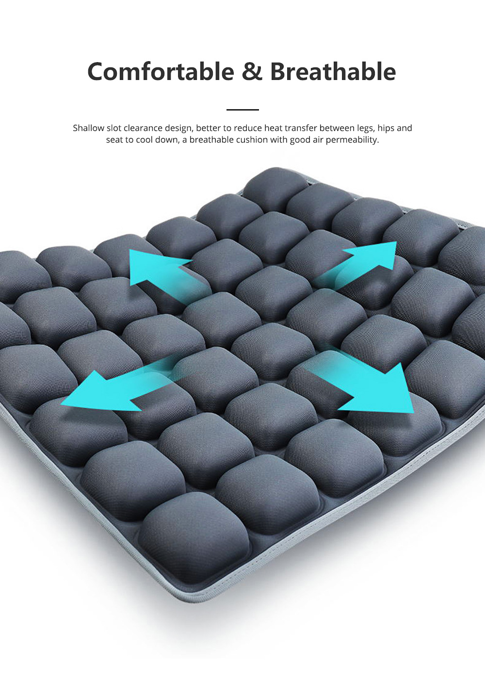 3D Air Bag Seat Cushion for Home Office and Car Use, Back Cushion for Back Pain Relief with Massage Function 3