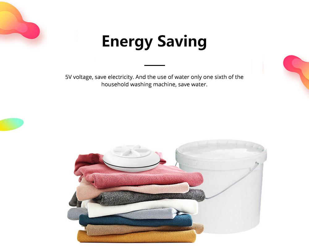 Travel Ultrasonic Turbine Washing Machine Cleaner High Efficiency Portable Washing Device 4