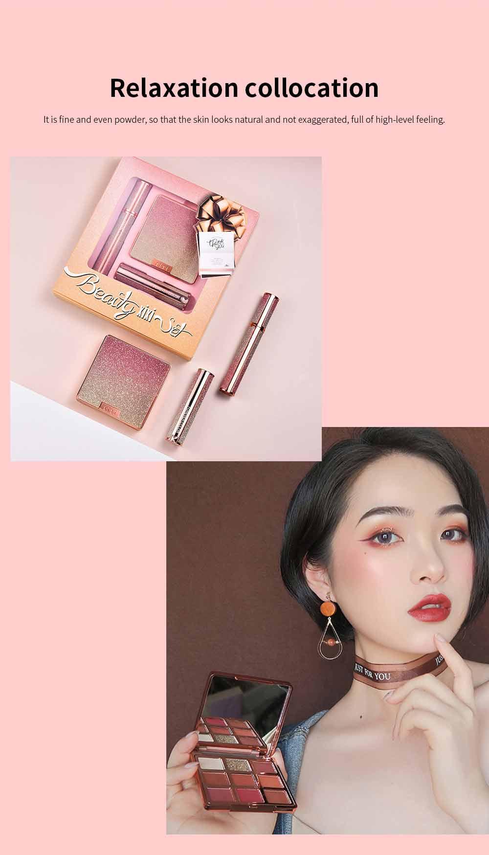 9 Color Eye Shadow & Mascara & Lipstick Set Beauty Makeup Birthday Cosmetic Gift Box Set 7