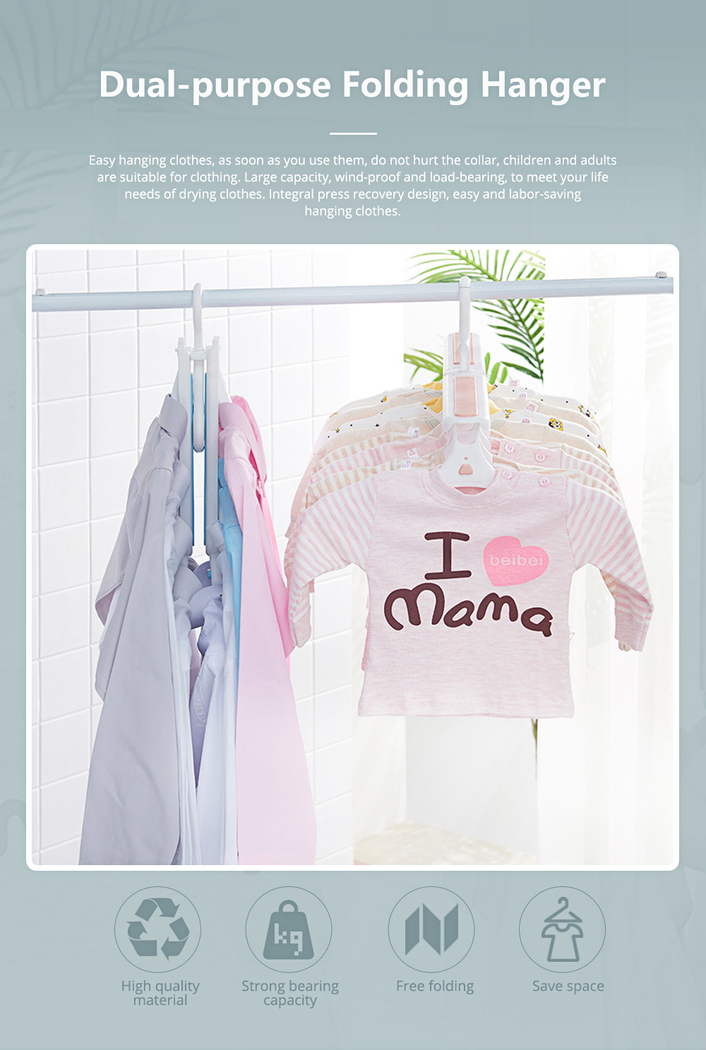 Dual-purpose Folding Hanger 14 Head Extensible Magic Hangers for Children and Adults Internet Explosive Clothes Hanger 0