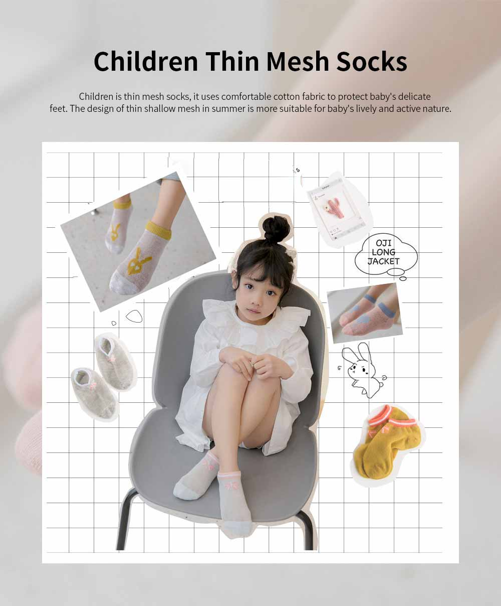 Children 's Thin Mesh Socks All-cotton Breathable Shallow mouth Cute Children's Socks For Summer 0